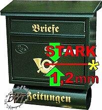 Briefkasten XXL, verzinkt mit Rostschutz FG/gr