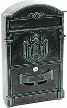 Briefkastenanlage im antik Design Grau