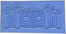 Briefmarken–Hintergrund kleinen Lieblinge Kinder Wagon unmontiert Gummi Stempel Gartentor (Hintergrund) blau