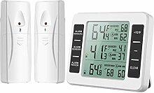 Brifit Kühlschrank Thermometer, Digital