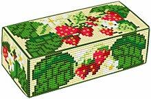 Brigantia Handarbeit Erdbeeren Kreuzstich Stickset für Türstopper