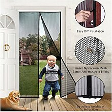 BRIGHT SCREEN Fliegengitter Magnetvorhang Insektenschutz mit Magnetverschluss für Wohnzimmer, Balkontür, Kellertür und Terrassentür