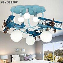 BRIGHTLLT American retro Flugzeuge Lampen Kinderzimmer Deckenleuchte für Jungen und Mädchen Schlafzimmer Licht kreative Cartoon 850*500 mm led