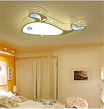 BRIGHTLLT Cartoon Kinder LED Deckenleuchte kreative Farbe Wale Lampe warme Schlafzimmer für Jungen und Mädchen auf die Lichter im Raum, 450 * 700 mm Pflege