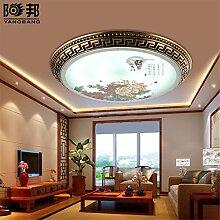 BRIGHTLLT Continental - große bronzene Lampen Schlafzimmer Studierzimmer Balkon lampe Dimmen Kupfer Deckenleuchte Chinesisch, 390 mm Deckenleuchte