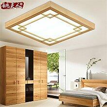 BRIGHTLLT Deckenlampen mit minimalistischen japanischen Holz- lampe Schlafzimmer slim Wohnzimmer der neuen chinesischen LED-Leuchten, 430 mm Restauran