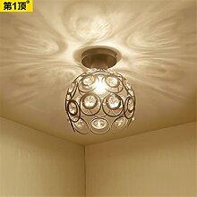 BRIGHTLLT Deckenleuchte American simple aisle LED Nordic Eingangshalle Eingang Eingang Lampe Kristall Wohnzimmer Korridor, 200 * H200mm