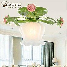 BRIGHTLLT Europäischen Stil Garten Lampe Blume Lampe Eisen Deckenleuchte Koreanisch warm und romantisch Balkon Lampe Gang Korridor Licht, 350 * 220mm