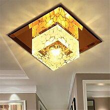 BRIGHTLLT Korridor Lampe Gang Korridor LED Kristall Decke Beleuchtung Halle, 120mm