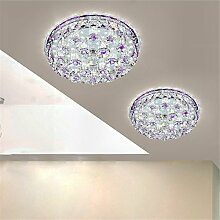 BRIGHTLLT Korridor Lampen aus der Lampen Kristall kreative kreisförmige einfache moderne Decke Lampe dreifarbige Dimmen, 240mm