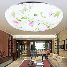 BRIGHTLLT Led Deckenleuchte einfache moderne runde Schlafzimmer Atmosphäre Wohnzimmer Lampe Gänge Restaurant Balkon Treppenlicht, 350mm