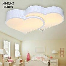 BRIGHTLLT  Led Deckenleuchte Lampen Wohnzimmer modernen minimalistischen Schlafzimmer liebe Lampe leuchten Restaurant kinder Studie 500 * 500 mm Lampen