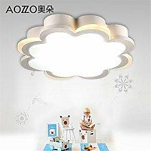 BRIGHTLLT Led Deckenleuchte Nordic einfache zweifarbige Schlafzimmer Lampe Kinderzimmer Deckenleuchte, 436 * 100.3mm