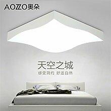 BRIGHTLLT Led Deckenleuchte Wohnzimmer Lampe Schlafzimmer Lampe Nordic einfache moderne Beleuchtung, 400 * 400 * 106mm