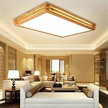 BRIGHTLLT LED Mittelschlafzimmer einfach Holz Farbe Deckenleuchte Studie Lampe Massivholz Wohnzimmer Lichter Holz Kunst Lichter, Versprechen, 650 * 650mm