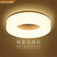 BRIGHTLLT Mit einfachen und modernen Decke lampe licht Warm runde Studie Schlafzimmer Transitkorridor Balkon japanische Lampe 3 farben LED, 500 mm