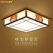 BRIGHTLLT Mit einfachen und modernen Deckenleuchte aus hellem Holz japanische Schlafzimmer Zimmer Licht Lampe leuchtet 3 Studie Farben optisch, 450 mm Led