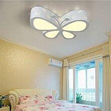 BRIGHTLLT Schmetterling Kinderzimmer lampe led Deckenleuchte cartoon Licht Jungen und Mädchen Schlafzimmer Licht Lampen Kinderzimmer Fernbedienung, 500 mm