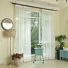 Brightup 100X250cm Vorhang Garn Balkon Weiß Fenster Vorhang Schlafzimmer Voile Gardinen Vorhänge Rollos