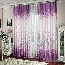 Brightup 200 cm x 95 cm Dekorative Haken Vorhänge Ösen Vorhänge Fenster Vorhang für Schlafzimmer Fenster Blind
