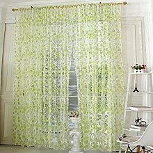 Brightup Chic Blumen Tüll Fenster Vorhänge Voile Tür Panel Sheer Valances 3 Farben