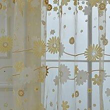 Brightup Colorful Print Sheer Vorhang Fenster Panel Balkon Tulle Zimmer Valances Divider