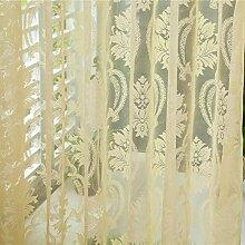 Brightup Heimtextilien Blume Bestickt Chinesischen Luxus 3D-Fenster Vorhänge Stoff Tulle Schiere Schlafzimmer Wohnzimmer Küche