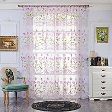 Brightup Offset, Fenster Vorhänge Vorhang Panel,Rod Pocket,Voile Vorhänge, 100 X 200CM