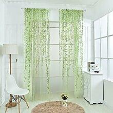 Brightup Romantische Schal Schal Valances Tulle Voile Tür Fenster Vorhänge Drape Zweig Stil