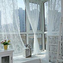 Brightup Tafel Sheer Fenster Vorhang Panel Drape Room Blumen Tüll Schals Valances 150*180cm
