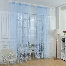 Brightup Vorhang Druck Blumen Voile Tür Vorhang Fenster Paravent Schal Vorhang