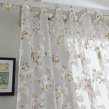 Brightup Vorhang Tür Fenster Verkleidung Raum Teiler Tuch Blumen Tulle Schals Valances