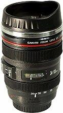Brilliant-Kamera Kamera Objektiv isoliert Kaffee/Tee Reise Becher mit Deckel 400ml.