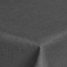 Brilliant Tafeldecke - Eckig 130 x 260 cm Farbe wählbar - Grau Anthrazit Tischdecke UNI Einfarbig mit Lotus Effek