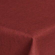 Brilliant Tafeldecke - Eckig 135 x 180 cm Farbe wählbar - Dunkelrot / Rot Tischdecke UNI Einfarbig mit Lotus Effek