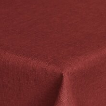 Brilliant Tafeldecke - Eckig 160 x 160 cm Farbe wählbar - Dunkelrot / Rot Tischdecke UNI Einfarbig mit Lotus Effek