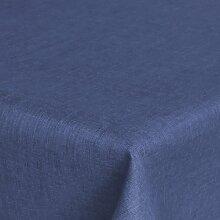 Brilliant Tafeldecke - Eckig 160 x 260 cm Farbe wählbar - Dunkelblau Blau Tischdecke UNI Einfarbig mit Lotus Effek