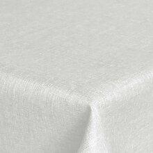 Brilliant Tafeldecke - Eckig 160 x 360 cm Farbe wählbar - Weiss Tischdecke UNI Einfarbig mit Lotus Effek
