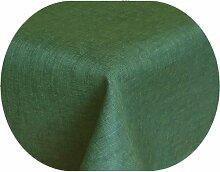 Brilliant Tafeldecke - Oval 160 x 260 cm - Dunkelgrün / Grün Tischdecke UNI Einfarbig mit Lotus Effek