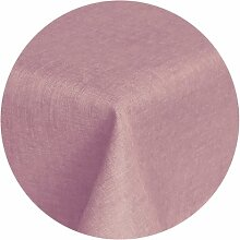Brilliant Tafeldecke - Rund 140 cm Farbe wählbar - Altrosa / Rosa Tischdecke UNI Einfarbig mit Lotus Effek