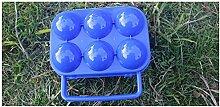 BrilliantDay Eier Aufbewahrungsbox Eierbehälter Vorratsdose Fach Multi in Kühlschrank Outdoor Picknick Camping Farbe Zufällig LianLe (Blau, 6 Fach)