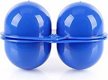 BrilliantDay Eier Aufbewahrungsbox Eierbehälter Vorratsdose Fach Multi in Kühlschrank Outdoor Picknick Camping Farbe Zufällig LianLe (Blau, 2 Fach)