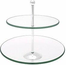 Brillibrum Design Glas Etagere Rund Mit