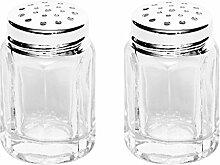 Brillibrum Design Mini Salzstreuer Glas Feinsilber