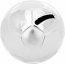 Brillibrum Design Spardose Fußball versilbert