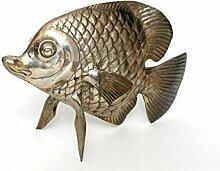 Brillibrum Fisch Messing VERSILBERT TISCHDEKO DEKO