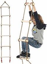 Brillie Kinder Strickleiter mit Holzsprossen ideal