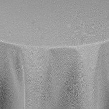 Brillino Tischdecke Oval Hellgrau 160 x 260 cm Leinen Optik mit Lotus Effekt Größe, Form & Farbe wählbar