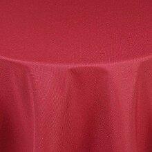 Brillino Tischdecke Oval Rot 160 x 260 cm Leinen Optik mit Lotus Effekt Größe, Form & Farbe wählbar