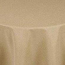Brillino Tischdecke Rund Beige Sand 180 cm Leinen Optik mit Lotus Effekt Größe, Form & Farbe wählbar